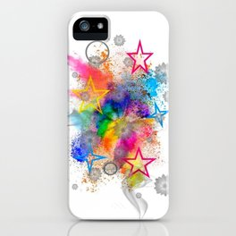 Color blobs by Nico Bielow iPhone Case