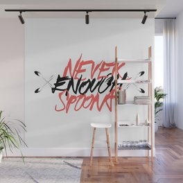 Never Enough Spoons Wall Mural