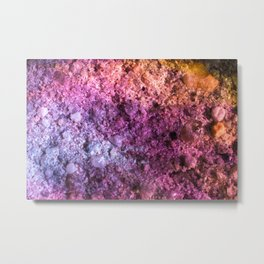Space Rock In Colorful Rainbow Colors Metal Print