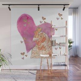 Chicken Love Wall Mural