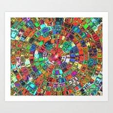 Mosaic Gems   Art Print