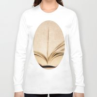 kindle Long Sleeve T-shirts featuring Silent Reading II by Rose Etiennette