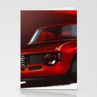 gta Stationery Cards featuring Alfa Romeo Giulia Sprint 1600 GTA by Vadim Artemyev
