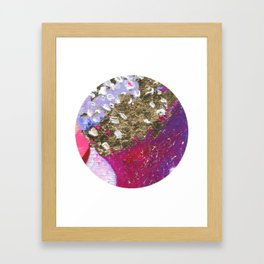Abstraction World #1. Round version 4 Framed Art Print