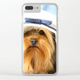 Little Sailor Yorkshireterrier With Sailor Hat #decor #society6 Clear iPhone Case
