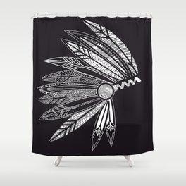 Headdress of a chief Shower Curtain