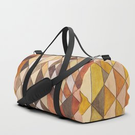 Triangle Pattern Fall Colors Duffle Bag