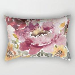 Large floral autumn Rectangular Pillow