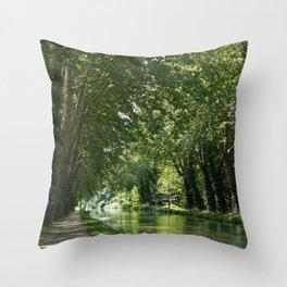 Canal du midi Throw Pillow