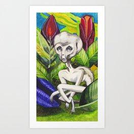 Alierm in Marz Junkle Art Print