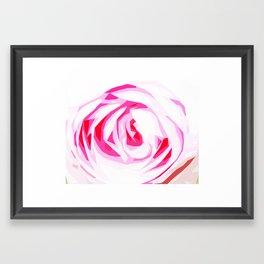 Pink Fractured Rose Framed Art Print