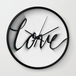 Love Blurred Lines Wall Clock