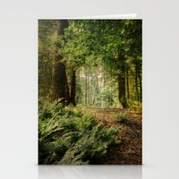 woodland Stationery Cards featuring Woodland by ZenaZero