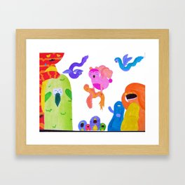 Anguish Framed Art Print