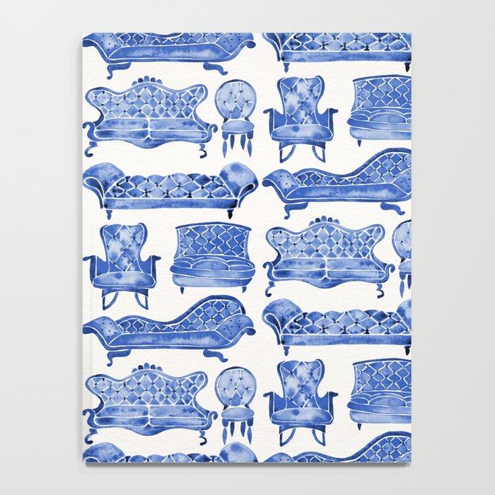 Victorian Lounge – Navy Palette Notebook