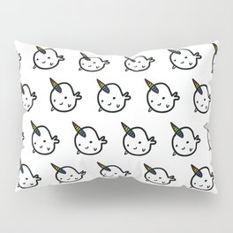 RAINBOW BUDDY NARWHALS Pillow Sham