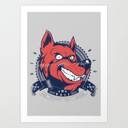 Wolf grin Art Print