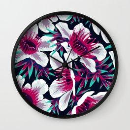 Manuka Floral Print -  Light Wall Clock