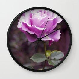 Hello Gorgeous Purple Rose Wall Clock