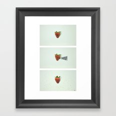 Strawberry Sneeze Framed Art Print