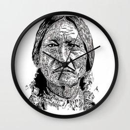 Sitting Bull Portrait Wall Clock