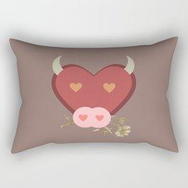TAURUS Zodiac Symbol Simple Illustration Rectangular Pillow