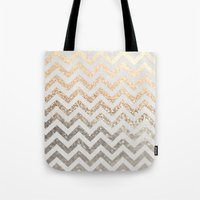 silver Tote Bags featuring GOLD & SILVER  by Monika Strigel®