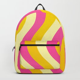 Pink and Gold Waves Backpack