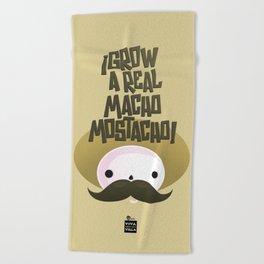 macho mostacho  Beach Towel