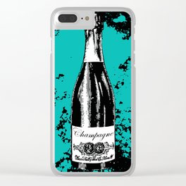 Champagne Explosion Clear iPhone Case