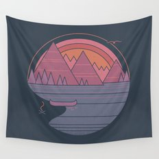 The Mountains are Calling Wall Tapestry