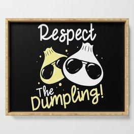 Cool Dumpling Shirt Motif Serving Tray