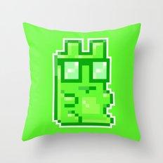 Giant Pixel Gummy Bear Throw Pillow