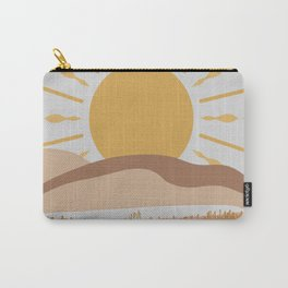 Bright Yellow Sun Carry-All Pouch