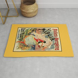French belle epoque mime theatre advertising Rug