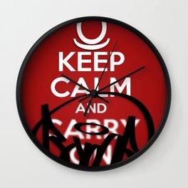 KEEP CALM AND BOMB!  Wall Clock