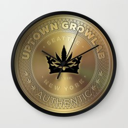 Uptown Growlab Cannabis New York City Subway Token Wall Clock