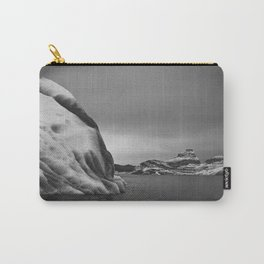 Icebergs in Black and White Carry-All Pouch