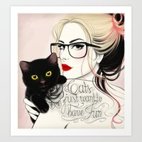 Cats just want to have fun! Art Print