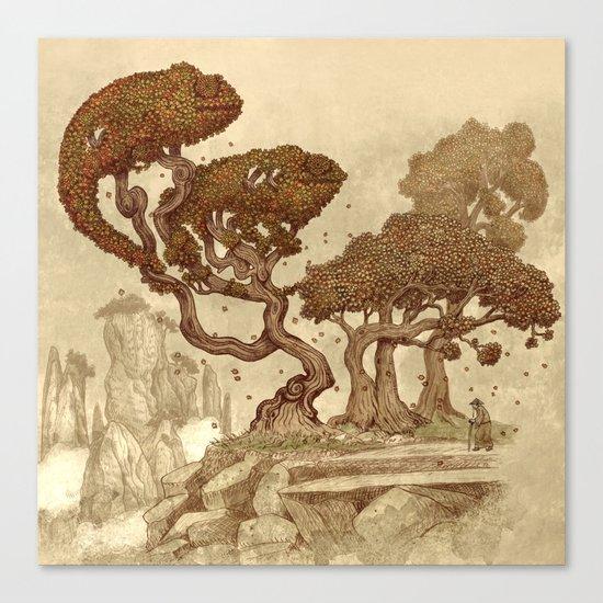 Autumn Chameleons  Canvas Print