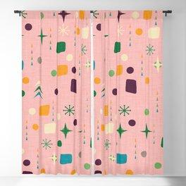 Atomic Pattern Pink Green  #midcenturymodern Blackout Curtain