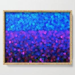 Sparkles Glitter Blue Serving Tray