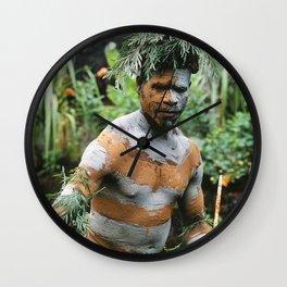 Papua New Guinea Villager Wall Clock