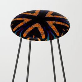 Tribal Geometric Counter Stool