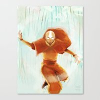 aang Canvas Prints featuring Avatar Aang by drawnerys