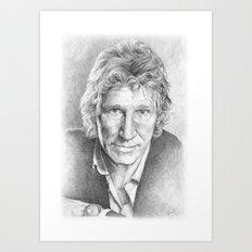 Roger Waters of Pink Floyd (ANALOG zine) Art Print
