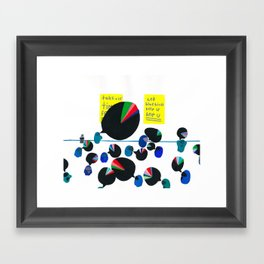 group therapy, coffee break Framed Art Print