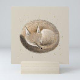 Swift Fox Sleeping Mini Art Print