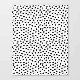 Dalmatian Dots Black White Spots Canvas Print