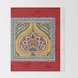 Lotus on Paan Throw Blanket